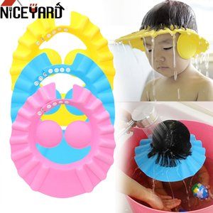 Caps NICEYARD Adjustable Safe Soft Hat Shower Caps Bath Wash Hair Cap Children Shampoo Cap Baby Shower Shield Hat Ear Protection