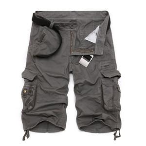Mens Military Cargo 2019 nuevo ejército camuflaje pantalones cortos tácticos hombres algodón trabajo suelto pantalones cortos ocasionales más el tamaño C19042101