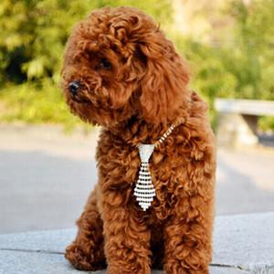 Pet Ошейник Регулируемый Декоративный Блестящий Горный Хрусталь Ошейники Для Собак Галстук Pet Cat Товары для собак
