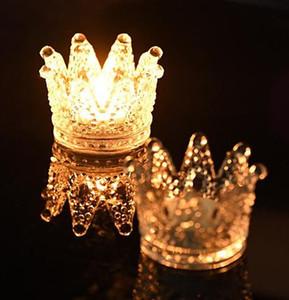 Düğün veya parti dekor üstün kalite el yapımı yapay kristal cam taç mumluk