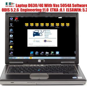 2020 OBD ODIS Mühendisi 11.0.ETKA 8.1.ELSAWIN 5.3 VAG Destek çevrimiçi oturum açma ile 2 tarayıcı VAS 5054A Odis 5.2.6 Yazılım ve 4g Laptop D630