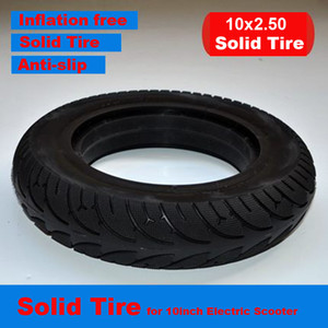 10 inch Electric Scooter Rubber Riot Tire Solid Tyre Inflation Free Tire 10*2.5 10*2.125 for 10 inch Electric Scooter