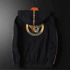 Versace traspirante confortevole giacca casual giacca sottile V5001 trasporto libero nuovi uomini di modo