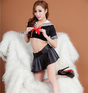클래식 그리드 섹시 한 학교 유니폼 여성 섹시 한 란제리 학생 유니폼 유혹 플러스 크기 고품질