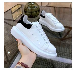 Top para hombre de calidad de los zapatos de las mujeres ocasionales láser terciopelo de piel de gran tamaño Formadores las zapatillas de deporte de la plataforma Alpargatas zapato plano con la caja Chaussures