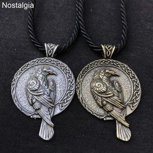 10шт скандинавский Ворон Викинг птица ожерелье Викканский языческий амулет талисман Ворона ведьма ювелирные изделия Викка ирландская шея женщины мужчины оптом