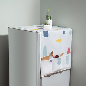 Waterproof Washing Machine Coat Dustproof Refrigerator Cover European Pattern Sun Dust Protection Case Household Accessories