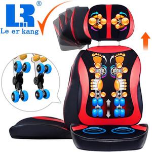 LEK918 خاص بيع مؤخرات تدليك الرقبة وسادة كامل الجسم شياتسو كرسي التدليك يضغط الاهتزاز العجن الخلفي مدلك