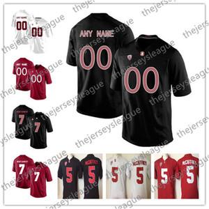 Stanford Cardinal Personalizzato Qualsiasi Nome Qualsiasi Numero Cucito Nero Rosso Bianco # 20 Bryce Love 86 Zach Ertz Maglia da calcio NCAA College