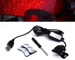 팔걸이 장식 인테리어를 충전 자동차 스타 분위기 조명 USB는 자동차 지붕 별 프로젝션 레이저 램프를 점등