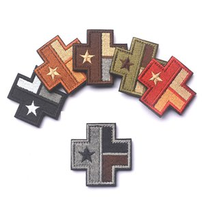 3d texas flagge cross medical kapitel gestickt patch militärische moral abzeichen armband tuch mode abzeichen