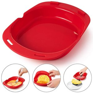 New Coming Microwave Oven Silicone Omelette Mold Tool Egg Roll Baking Tray Egg Roll Maker Steamer Kitchen Accessories