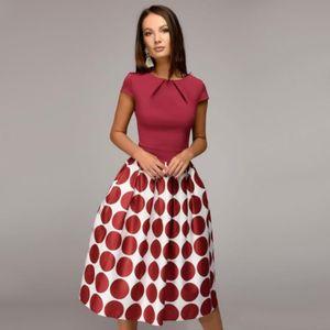 abito Abiti casual designer di abbigliamento casual vestito rosso della donna, la vendita di nero, blu altalena Hot Spring nuovo partito estate e l'autunno 3