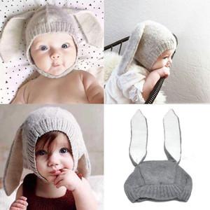 Kış Bebek Bebek Çocuk Kız Erkek Örme Tavşan Crochet Kulak Beanie Hat Cap Marka Uzun Kulaklar Pamuk Tatlı Sevimli Şapka Isınma