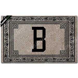 Your Family Name Door Mat Custom Printing Initial B Floral Doormat Birthday Gift Wedding Present Stylish Gate Mat Rubber Pad