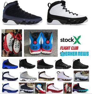 9 9s los zapatos de baloncesto del Mens Jumpman antracita Bred de carbón Citrus Zapatos fresco gris diseñador de los hombres la zapatilla de deporte de piel de serpiente Space Jam El Espíritu Deporte