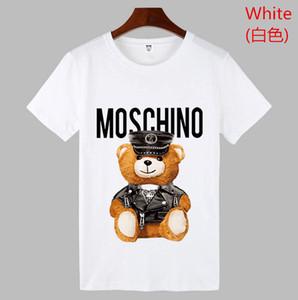 mens 2020 lüks tasarımcı giysi Tee Gevşek Yuvarlak Yaka Kısa Kollu Adam Ve Kadın Kaliteli Z8moschino erkekler komik tişört