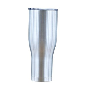 كأس 40oz الفولاذ المقاوم للصدأ منحني البهلوان معزول القهوة مزدوجة الجدار فراغ البيرة القدح مع غطاء خارجي النبيذ كؤوس البيرة القدح الخصر A03