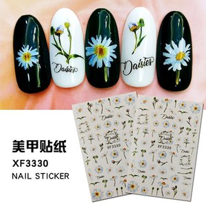 12sheet Lot Water Nail Decal and Sticker Sunflower and chrysanthemum Flowers DIY Nail Art Decal Watermark Manicure Decor Nail Stickers