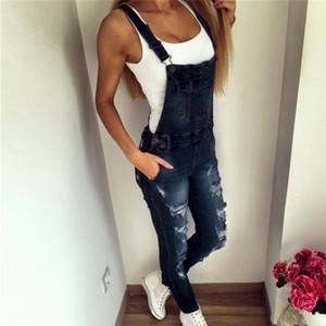 Kot Mujer 2019 Moda Streetwear Denim tulumları Kısa Pantolon Yaz sapanlar Kolsuz Artı boyutu Jeans Giyim Dropship E16