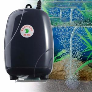 bomba de aireación acuario estanque de peces acuario de alta eficiencia de energía de la bomba de aire silencioso solo agujero 3W / doble vuelta agujero 5W inserto acce correa plana