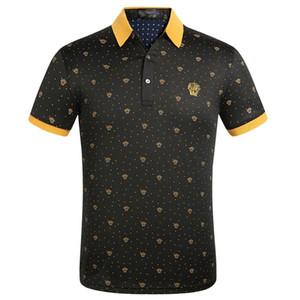 O Envio gratuito de T-Shirt de Manga Curta dos homens Verão 2019 Nova Lapela Designer T-shirt Masculino Camisa Polo Tops de Algodão