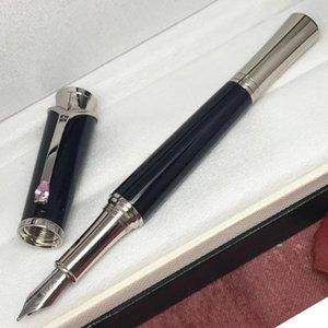 MB Monaco Princess kelly Black barrel высококачественная резная корона с номером серии Luxury M4810 Nib авторучка+подарочные чернила+подарочный плюшевый мешочек