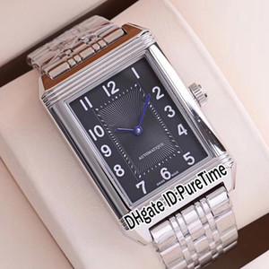 Yeni Reverso Klasik Orta İnce 2588120 Otomatik Erkek İzle Çelik Kasa Siyah Paslanmaz Çelik Bilezik Saatler Puretime E52b2 Dial