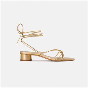 CuddlyIIPanda Low-Heel Riemchensandalen Frauen Gladiator Schuhe goldene Riemchen Sexy Brautschuhe Rom-Art-Sandalia Feminina