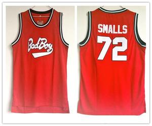 NCAA колледж Bad Boy Notorious Big 72 Biggie Smalls баскетбол трикотажных изделий сшиты Джерси вышивки для размера человека S-2XL