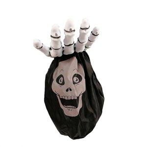Halloween Kinder Zucker Wett Halloween New Palm Skeleton Candy Bag Palm Kürbis-Tasche Halloween Palm-Beutel für Zucker