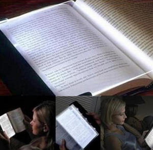 Yaratıcı LED Kitap Işık Okuma Gece Düz Levha Taşınabilir Araç Seyahat Paneli Lamba