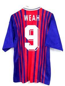 Retro version Paris Soccer Jerseys 93 94 WEAH GINOLA WORNS SIMONE LEROY AVELAINE shirt Short sleeve football uniform