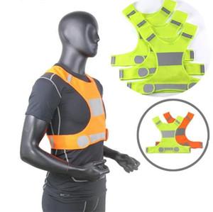 Видимость светоотражающий жилет открытый жилет безопасности Велоспорт жилет рабочий Ночной Бег спортивная одежда Party Favor BAB69