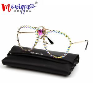 MONIQUE Oversized Clear Lens Glasses Men Women Retro Big Crystal Eyeglasses Transparent Ladeis shades