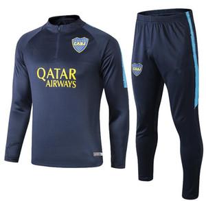 19 20 Boca Juniors Tuta da calcio Pantaloni blu scuro Felpa Pantaloni da uomo Completo da allenamento Tuta da calcio Boca Maglione di qualità tailandese Pantaloni lunghi