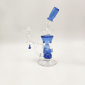 """popolare Dab rig bong 5mm heady glass bong 9 """"glass water pipe rig olio colorato con 14mm glass banger bowl"""