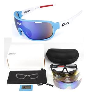 Top quality POC 5 Lens Cycling Glasses Bike Sport Sunglasses Men Women Mountain Bicycle Cycle Eyewear lentes de sol para Outdoor Eyewear