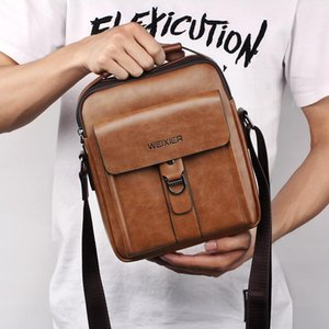Sacoche Men's Briefcases Leather Casual Shoulder Computer Business Classic Bags For Crossbody Office Homme Laptop Men Fhobu