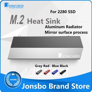 Cheap Fans & Cooling JONSBO M.2 Heat sink 2280 SSD Red Blue Gray Aluminum Radiator Mirror matte process