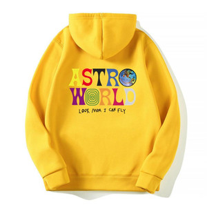 Olha mãe I Can Fly Hoodies Letter Moda Astro Mundo Hoodie Streetwear Homem Mulher suéter Big Tamanho S-3XL