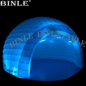 Top vente tente dôme LED 6-10meters gonflable multicolore avec disco publicité événement effets de bulle gonflable igloo tente pour la fête