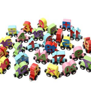 MWZ 26 Inglês Cartas / inseto / Digit Train pequeno Wooden Toys crianças 1-3 anos de idade enigma cognitivo Magnetic carro no início Toy Educação