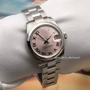 Comerciante recomendado Luxury Lady Medium Acero Inoxidable 31mm DateJust DateJust NUMERAL ROMANO BLANCO 178240 178274 Reloj de mujer Automático Sant Blanc