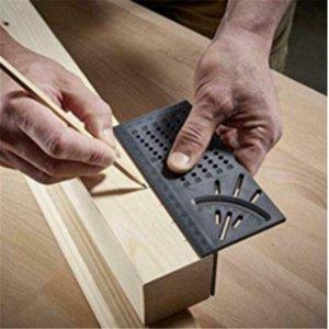 ferramenta prática Wood Working Régua 3D Mitre Ângulo de medição Medidor Praça Tamanho Medida Ferramenta Household