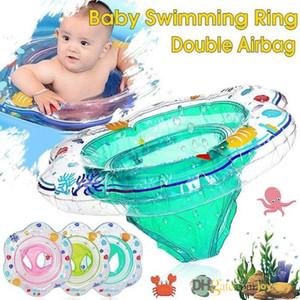 Baby-Schwimmen-Ring-Doppelt-Airbag Sitz Bell Pool Floats Badewasser-Spielzeug für Schwimmtraining Aid Kleinkinder