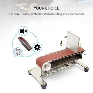 Horizontal Belt Sander Mini Electric Belt Grinding Sander Multifunctional Grinder Polishing Grinding Machine 775 795 895 Motor