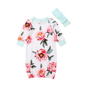 Pudcoco Newborn Baby Long Sleeve Floral Sleepwear Robes Infant Boy Girl Pajamas Set