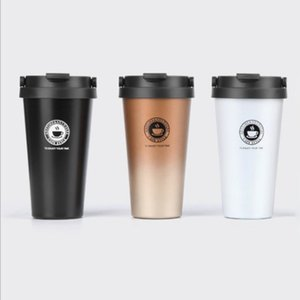 Stainless Steel Portable Thermal cup Coffee Mugs 500ml Fashion Insulation Water Bottle Travel Mug Vacuum Flasks For Home Travel C18112301