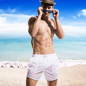 남성 Beachsuit 반투명 2018 수영복 남성 보드 반바지 섹시한 남자 수영 트렁크 수영복 게이 개요 수영복 비치웨어